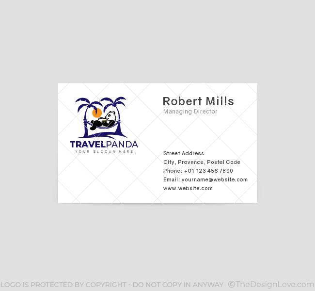 Panda-Travel-Business-Card-Front