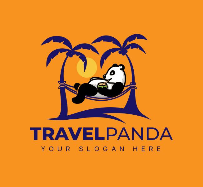 Panda-Travel-Startup-Logo