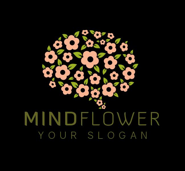 Mind-Flower-Startup-Logo