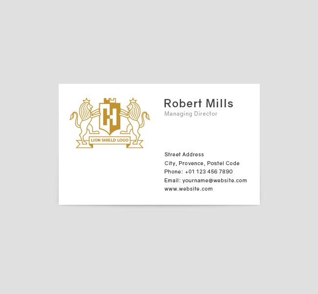 Lion-Shield-Business-Card-Front