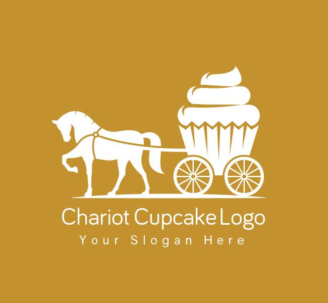 Chariot-Cupcake-Pre-Designed-Logo