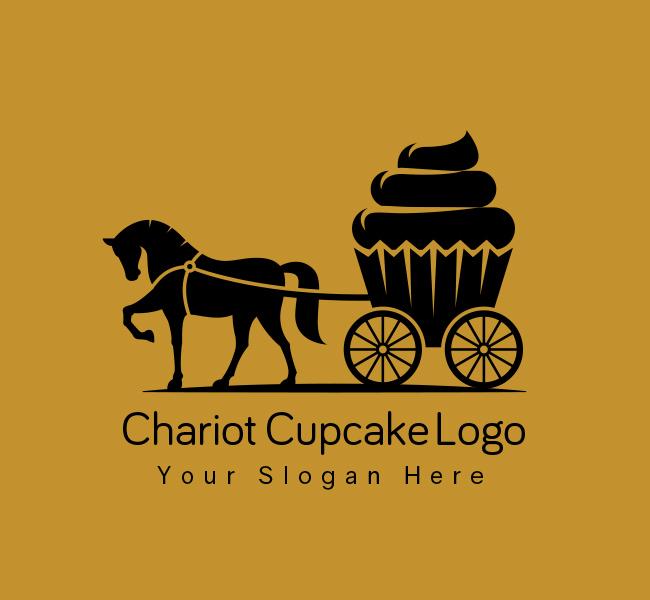 Chariot-Cupcake-Stock-Logo