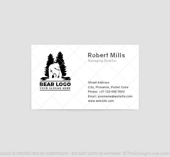 Bear-and-pine-Business-Card-Front