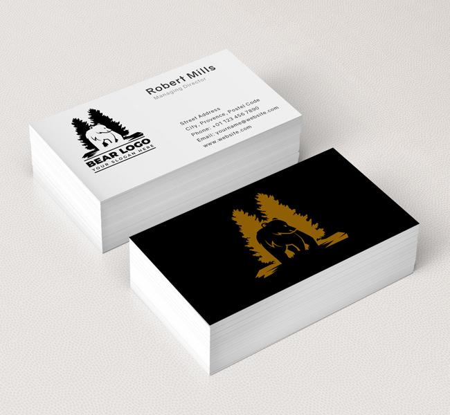 Bear-and-pine-Business-Card-Mockup