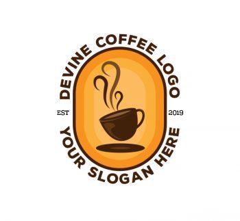 Devine Coffee Logo & Business Card Template
