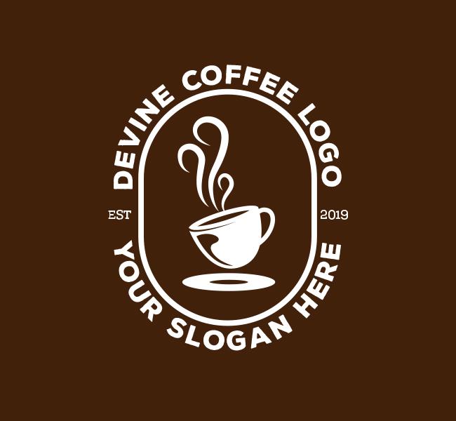 Devine-Coffee-Pre-Designed-Logo