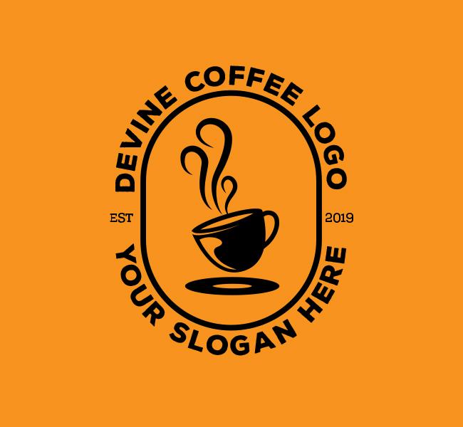 Devine-Coffee-Stock-Logo