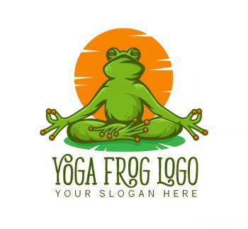 Frog Yoga Logo & Business Card
