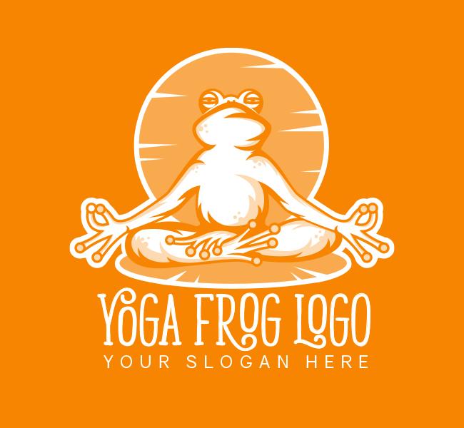 517A-Frog-Yoga-Pre-Designed-Logo