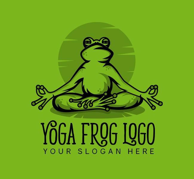 517A-Frog-Yoga-Stock-Logo