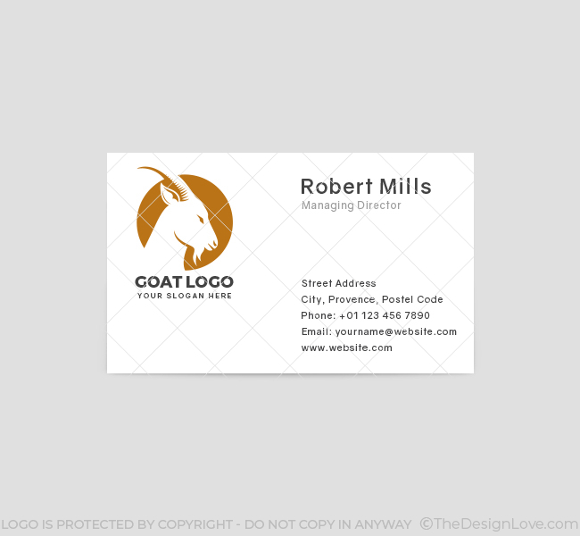 519-Goat-Business-Card-Front