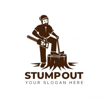 Stump Removal Logo & Business Card