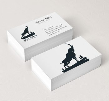 522-Simple-Goat-Business-Card-Mockup
