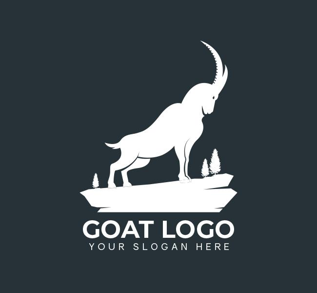 522-Simple-Goat-Pre-Designed-Logo
