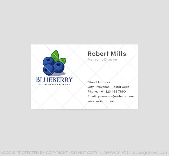 523-Blueberry-Logo-Pre-Designed-Logo