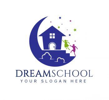 Dream Preschool Logo & Business CardTemplate