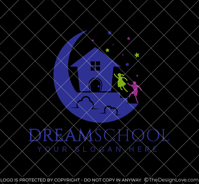 524-Dream-Preschool-Pre-Designed-Logo