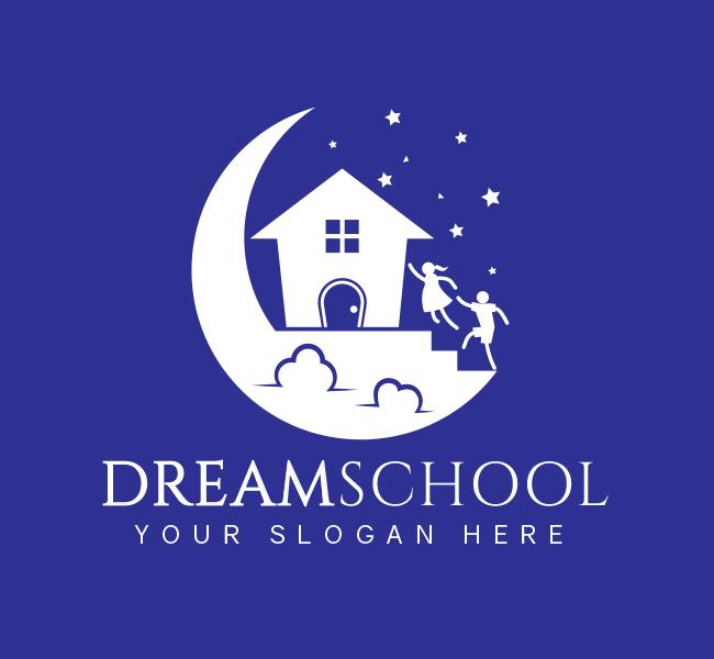 524-Dream-Preschool-Stock-Logo