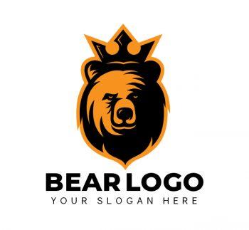 King Bear Logo & Business Card Template