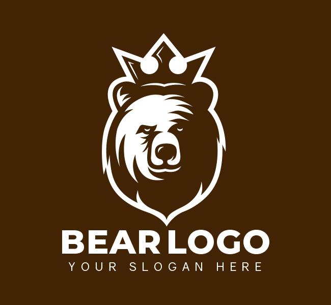 525-King-Bear-Pre-Designed-Logo