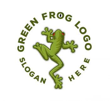 Green Frog Logo & Business Card