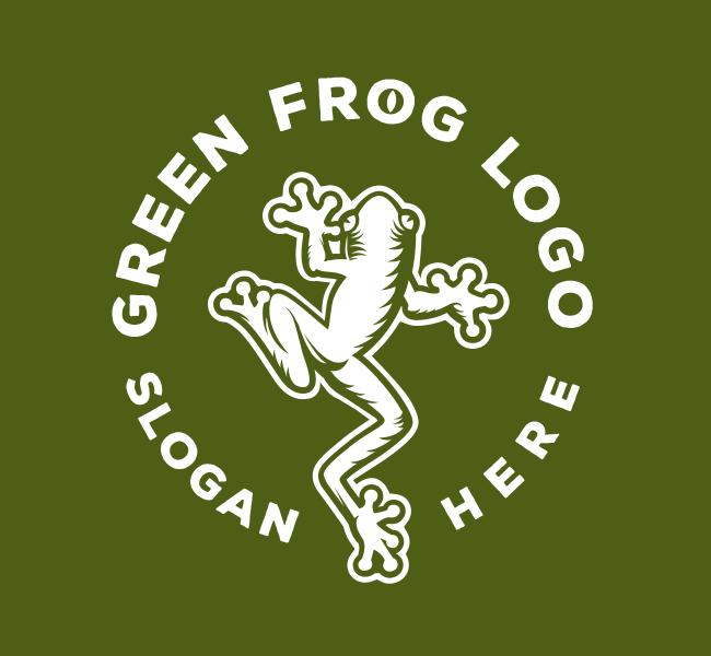 528-Green-Frog-Pre-Designed-Logo