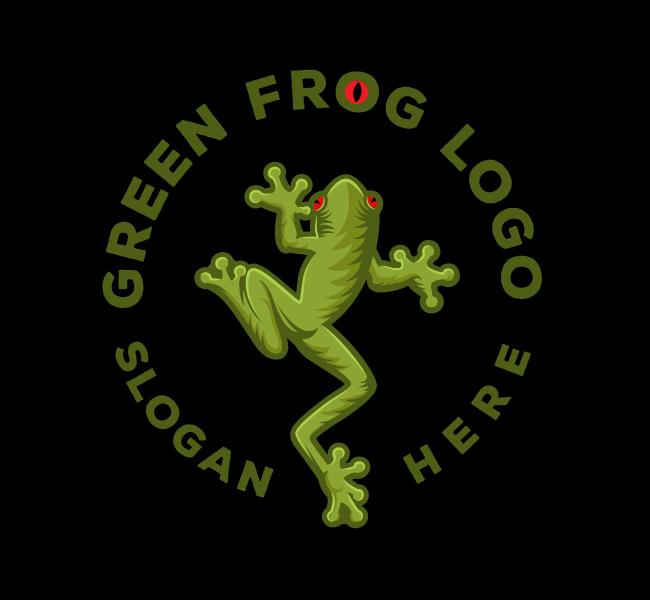528-Green-Frog-Start-up-Logo