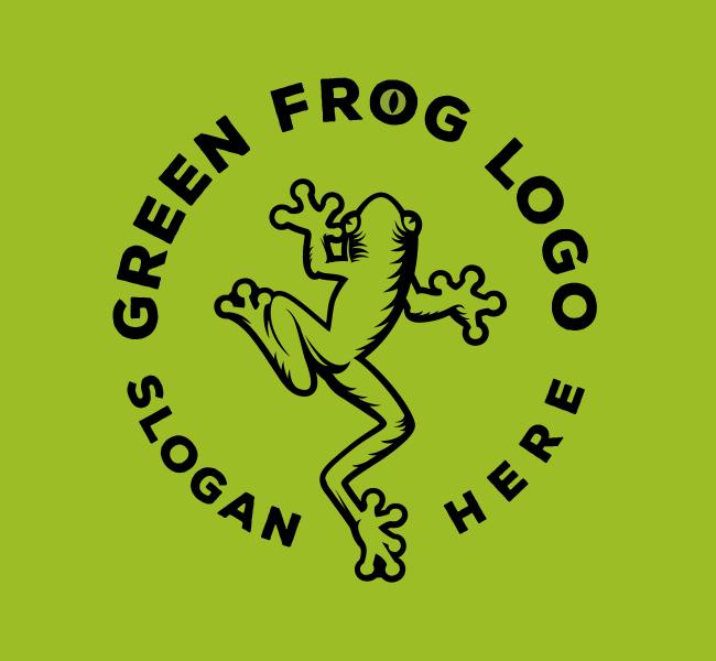 528-Green-Frog-Stock-Logo