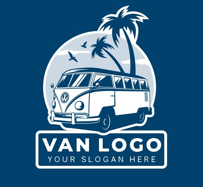 533-Van-Travel-Pre-Designed-Logo