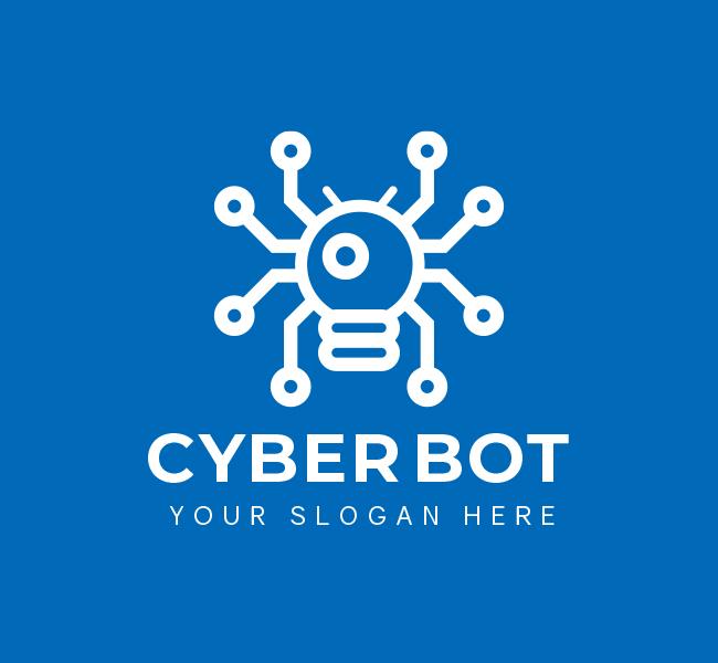 535-Cyber-Bot-Pre-Designed-Logo