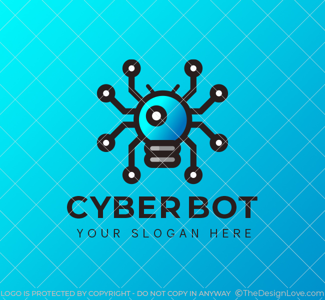 535-Cyber-Bot-Stock-Logo