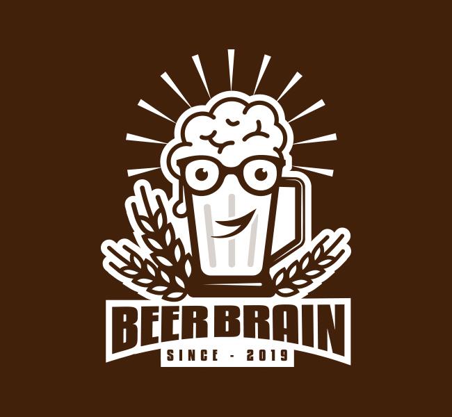 536-Brain-Beer-Pre-Designed-Logo