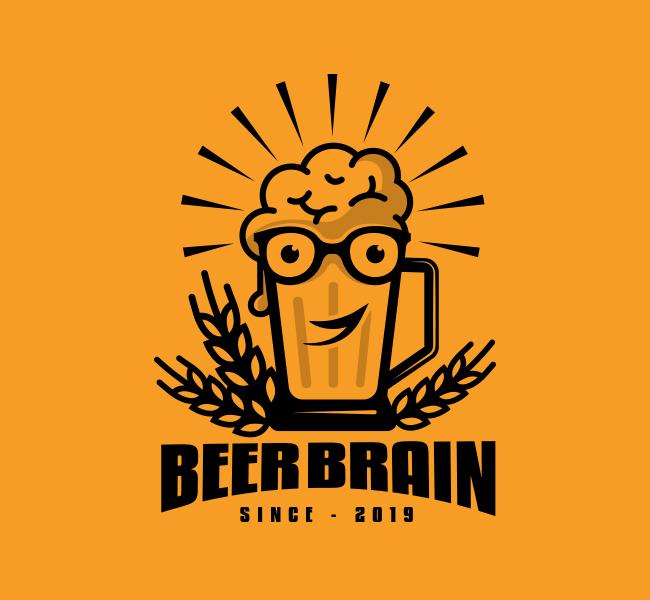 536-Brain-Beer-Stock-Logo