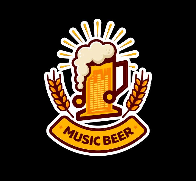 538-Music-Beer-Stock-Logo