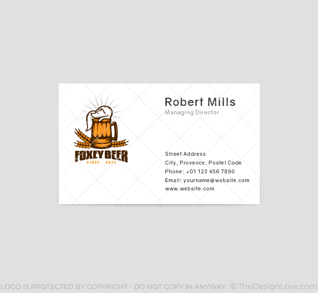 539-Fox-Beer-Business-Card-Front