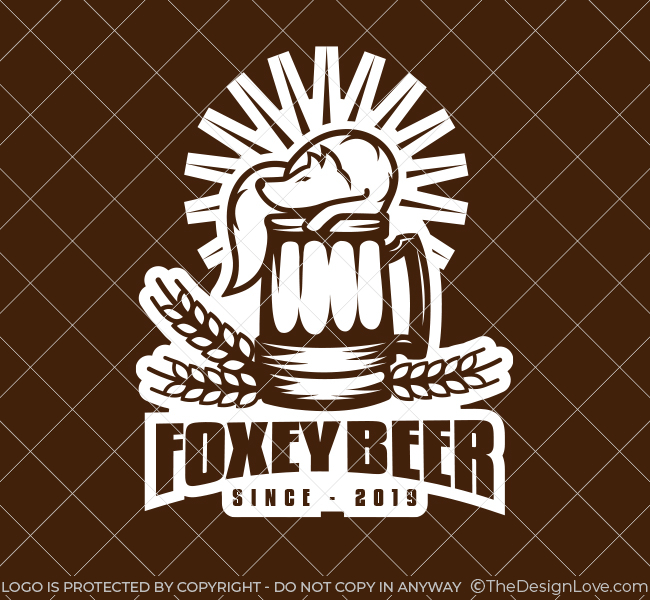 539-Fox-Beer-Pre-Designed-Logo