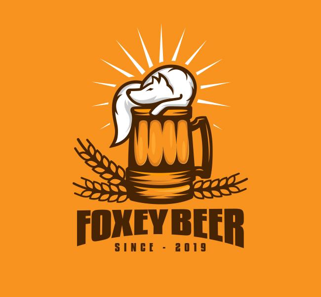 539-Fox-Beer-Stock-Logo