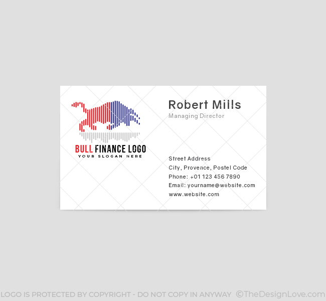 543-Bull-Finance-Business-Card-Front