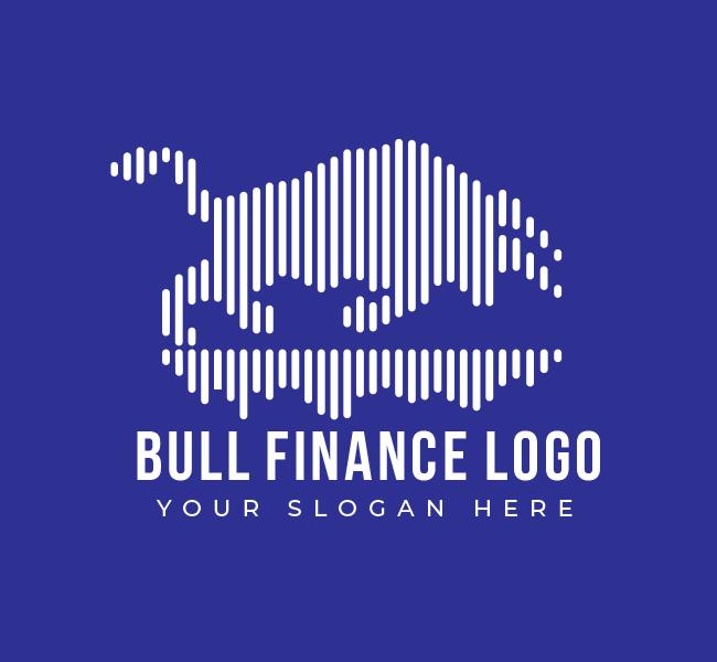 543-Bull-Finance-Pre-Designed-Logo