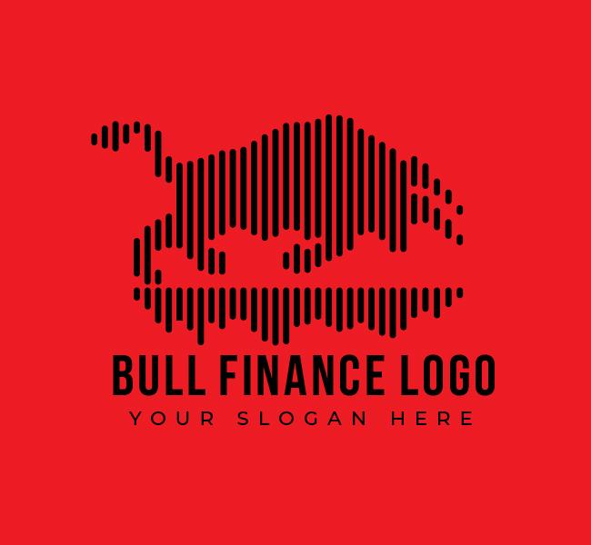 543-Bull-Finance-Start-up-Logo