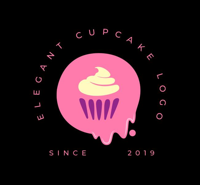 542-Elegant-Cupcake-Stock-Logo
