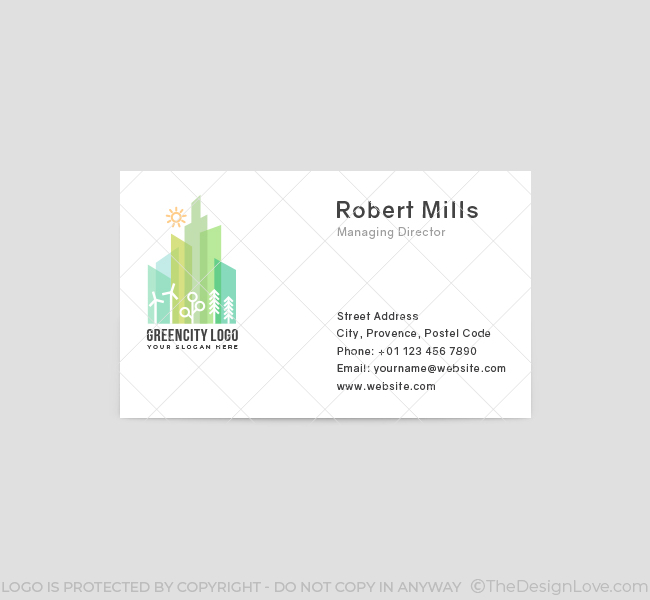 545-Green-City-Business-Card-Front