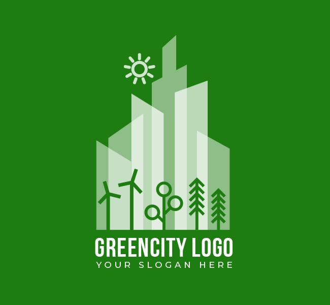 545-Green-City-Pre-Designed-Logo