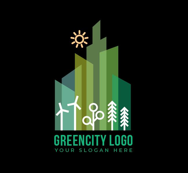 545-Green-City-Stock-Logo
