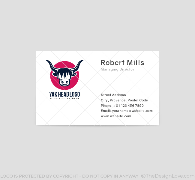 547-Yak-Head-Business-Card-Front