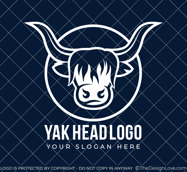 547-Yak-Head-Pre-Designed-Logo