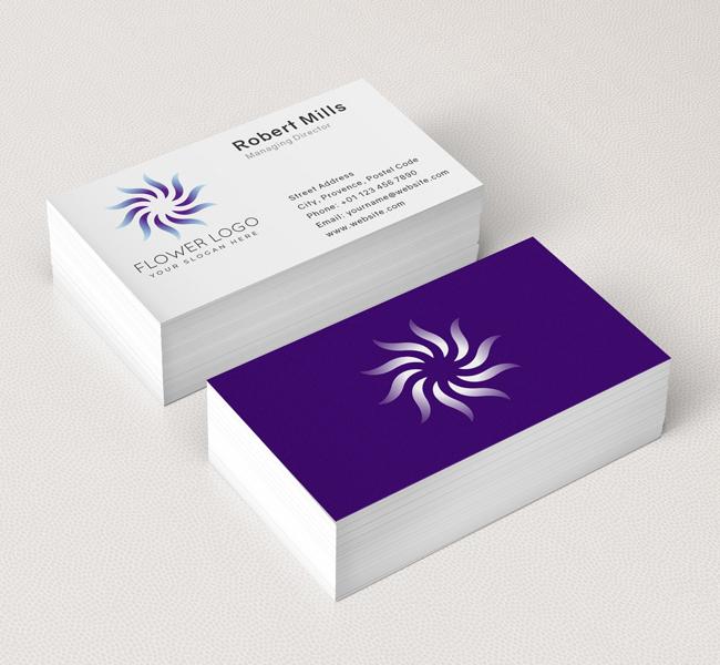 548-Simple-Flower-Business-Card-Mockup