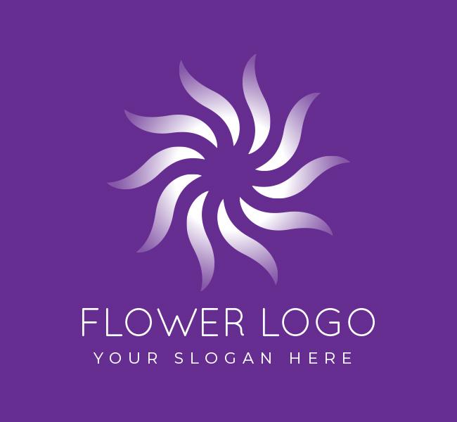 548-Simple-Flower-Pre-Designed-Logo
