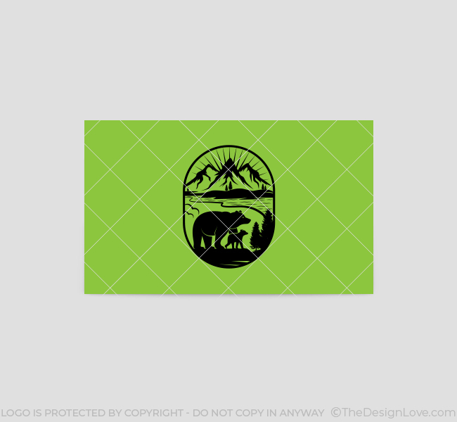 551-Illustrative-Bear-Business-Card-Back