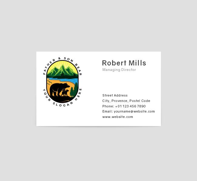 551-Illustrative-Bear-Business-Card-Front